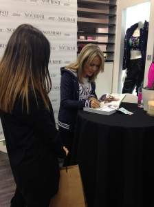 Lorna Jane signing instore